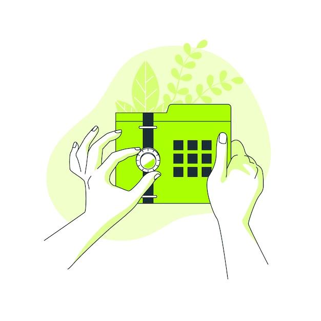 Veilige gegevens concept illustratie Gratis Vector