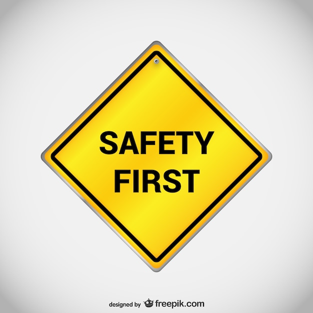 Veiligheid eerste teken vector Gratis Vector