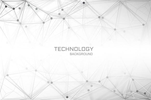 Verbindingslijnen veelhoek digitale technische achtergrond Gratis Vector