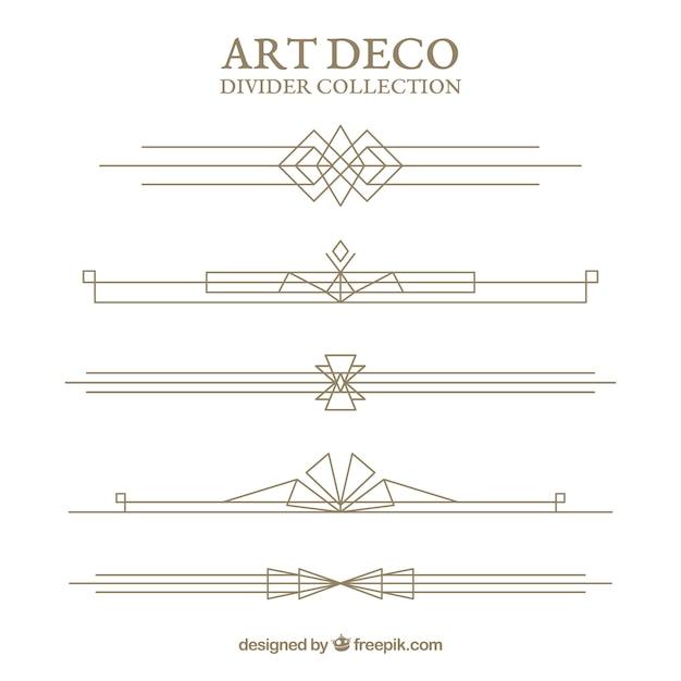 Verdelerscollectie in art deco-stijl Gratis Vector