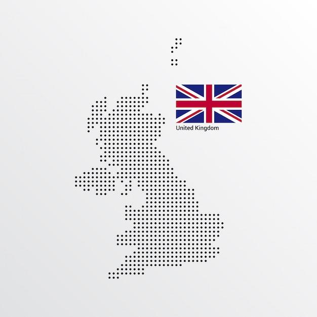 Verenigd koninkrijk kaartontwerp Gratis Vector