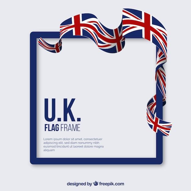 Verenigd koninkrijk vlag frame Gratis Vector