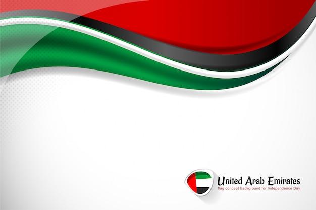 Verenigde arabische emiraten vlag achtergrond voor nationale feestdag Premium Vector