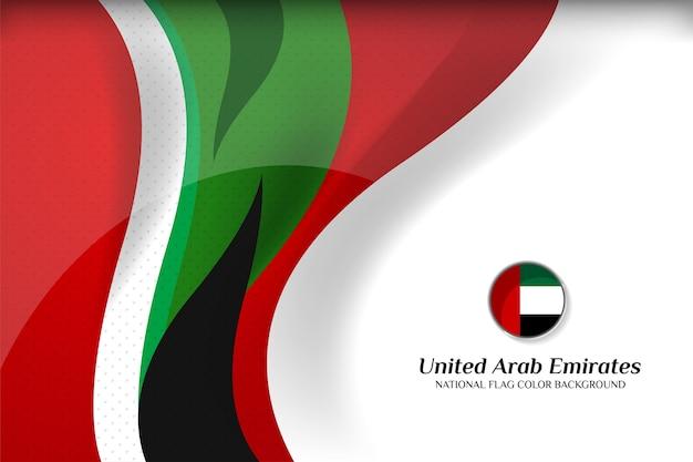 Verenigde arabische emiraten vlag concept achtergrond Premium Vector