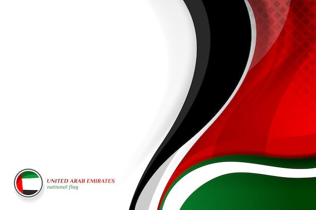 Verenigde arabische emiraten vlag concept achtergronden Premium Vector