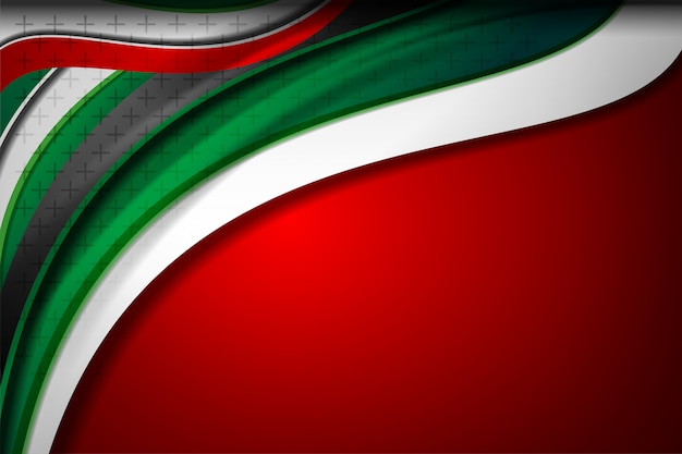 Verenigde arabische emiraten vlagkleur concept achtergronden Premium Vector