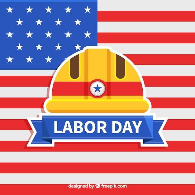 Verenigde staten dag van de arbeid concept met platte ontwerp Gratis Vector