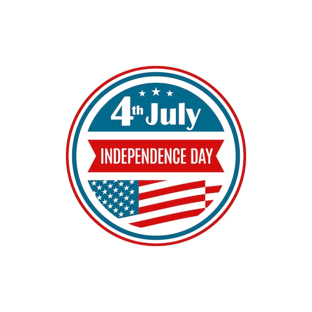 Verenigde staten independence day icon. Premium Vector