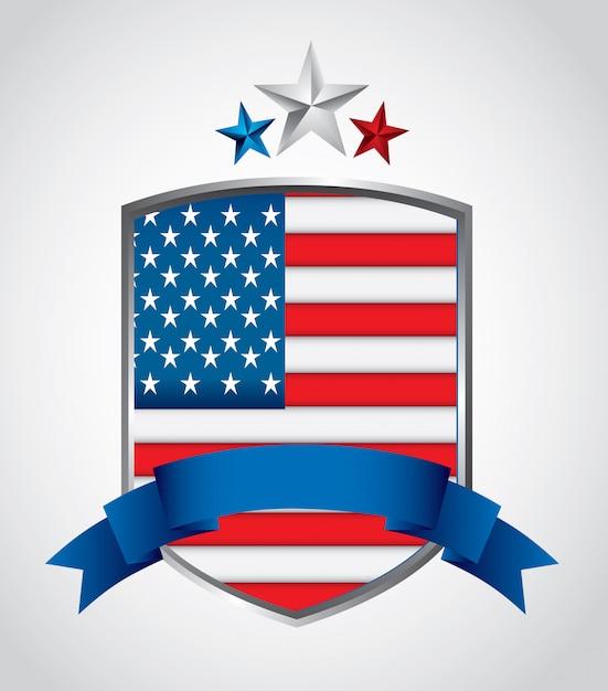 Verenigde staten van amerika Gratis Vector