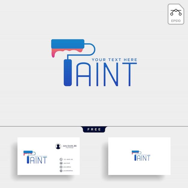 Verf penseel kleurrijke logo sjabloon vector pictogram element Premium Vector