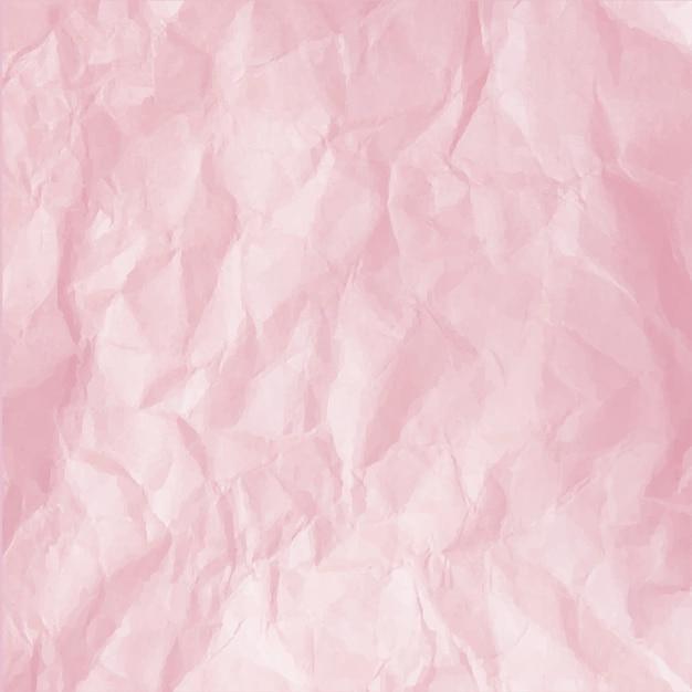 Verfrommeld roze papier Premium Vector