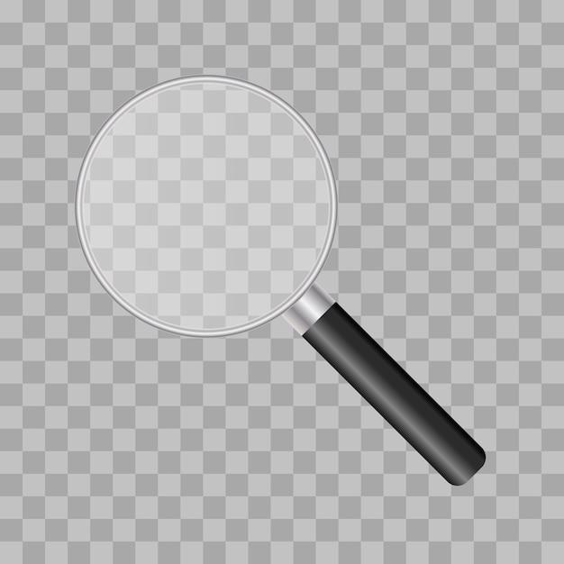 Vergrootglas illustratie Premium Vector