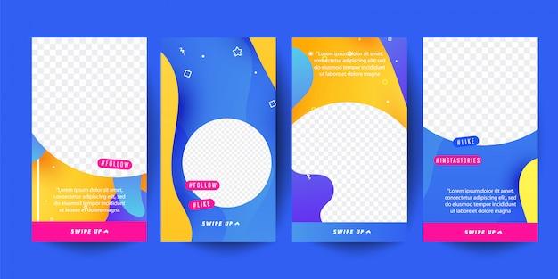 Verhaalsjabloon voor sociale media. bewerkbaar verhaal cover ontwerp voor foto's. Premium Vector