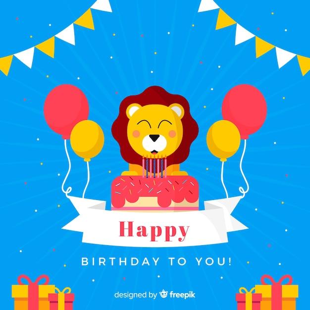 Verjaardag dier Gratis Vector