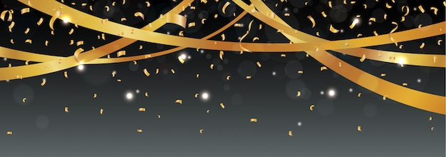 Verjaardag en viering banner Premium Vector