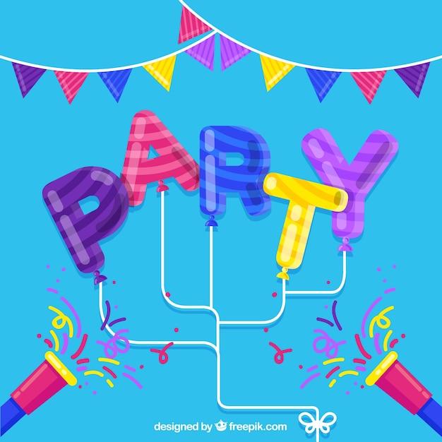 Verjaardag Feest Achtergrond In Heldere Kleuren Vector Gratis Download
