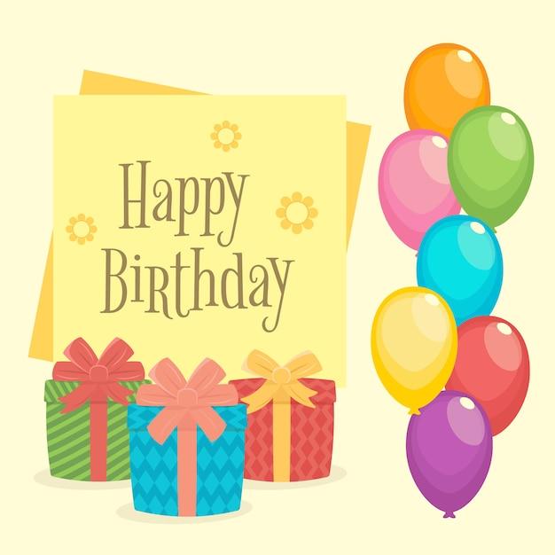 Verjaardag Frame Decoratie Achtergrond Vector Premium Download