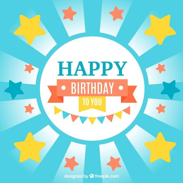 Verjaardag Uitnodiging Met Sterren Vector Gratis Download