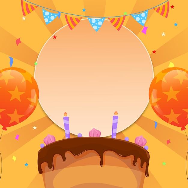 Verjaardag uitnodiging sjabloon in vlakke stijl Premium Vector