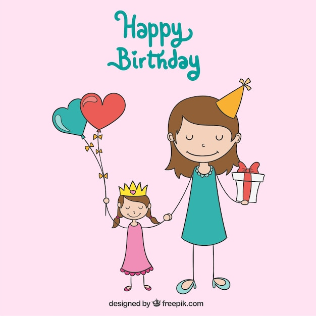 Verjaardagskaart Kind