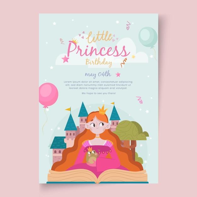 Verjaardagskaart voor kinderen Gratis Vector