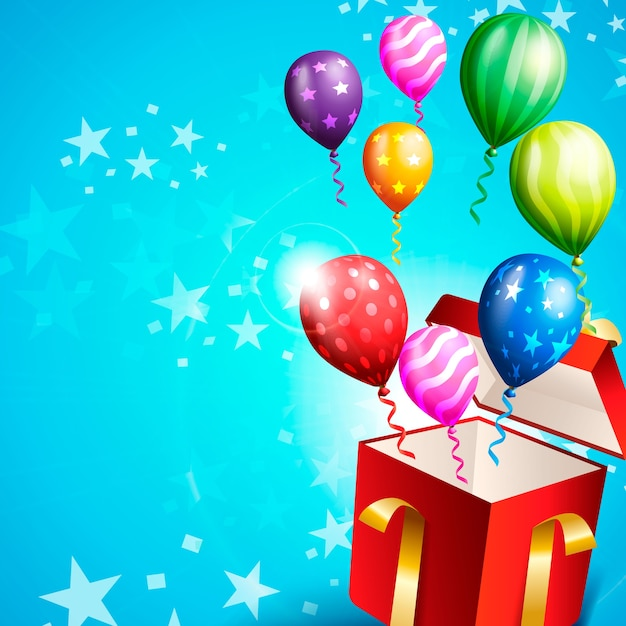 Verjaardagspartij card Premium Vector