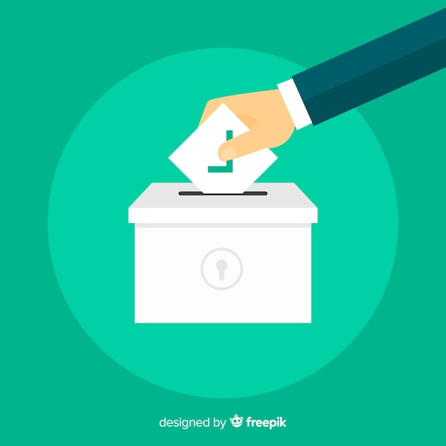Verkiezingsconcept Gratis Vector