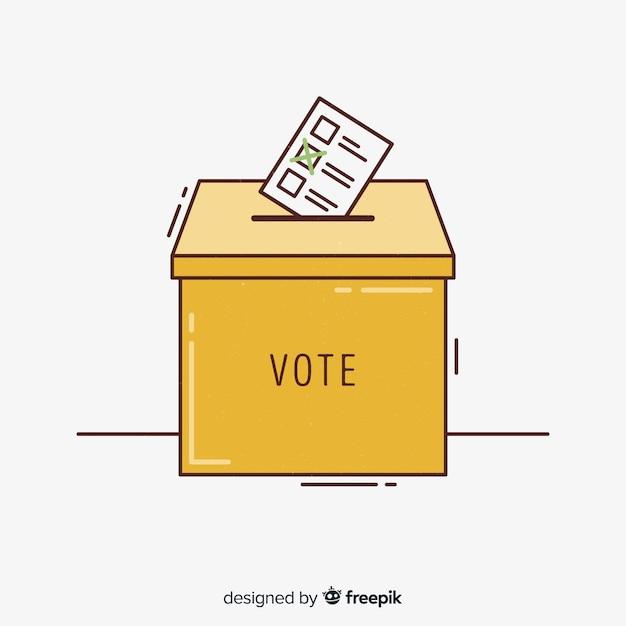 Verkiezingsdoos concept Gratis Vector