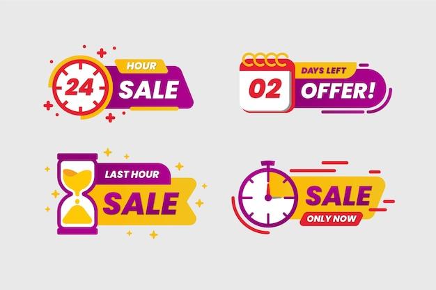 Verkoop countdown banner collectie Gratis Vector