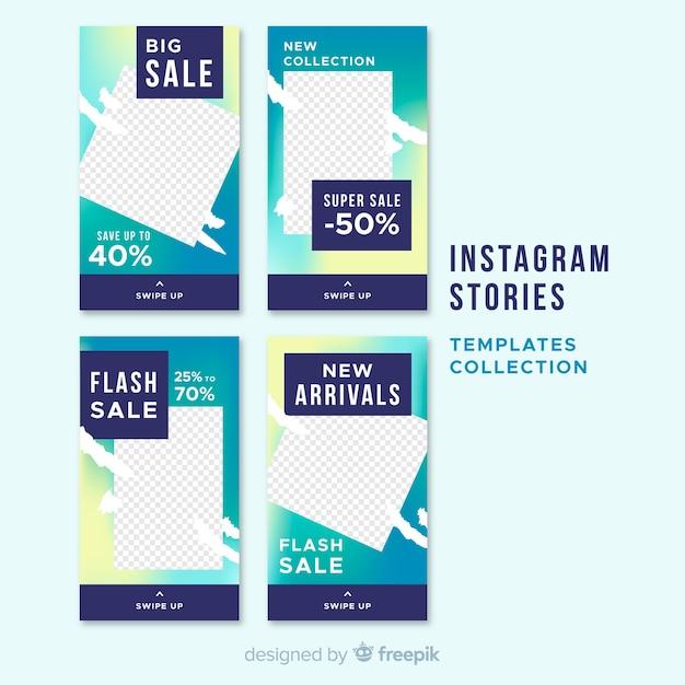 Verkoop instagram verhalen sjabloonverzameling Gratis Vector
