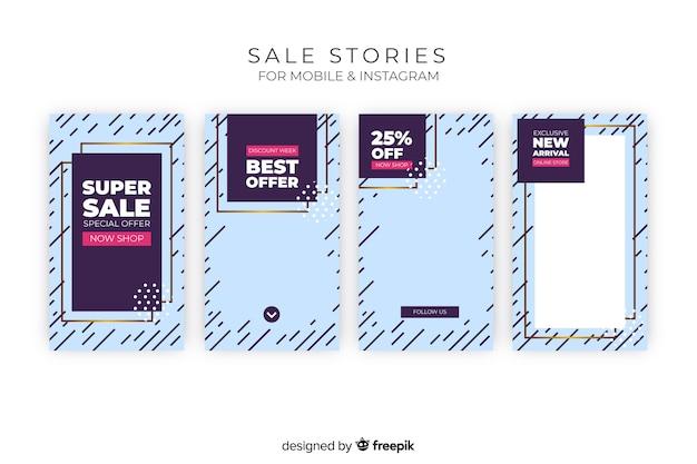 Verkoop instagram verhalencollectie Gratis Vector