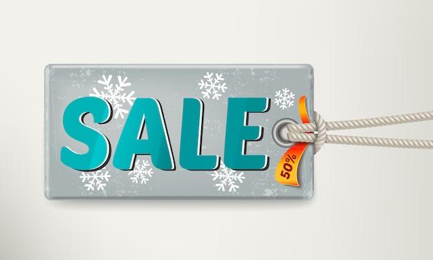 Verkoop tag ontwerp. illustratie Premium Vector