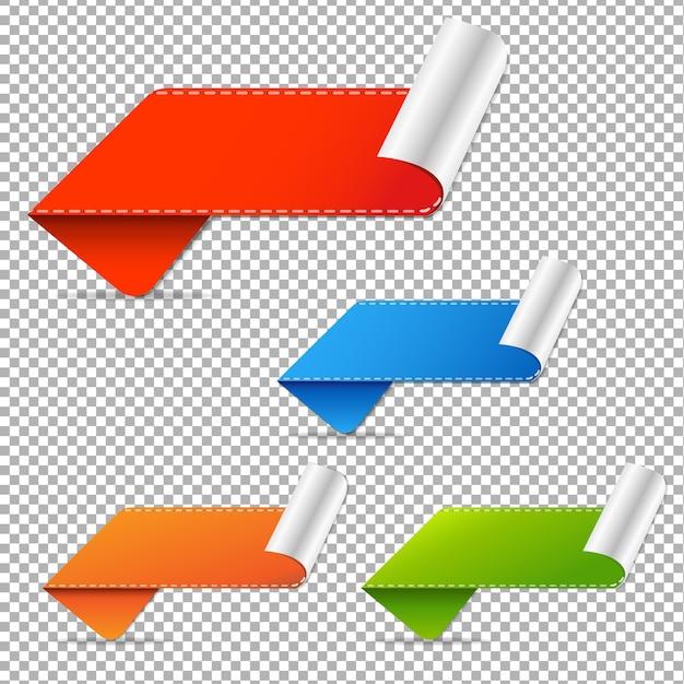 Verkoop tags verloopnet, illustratie Premium Vector