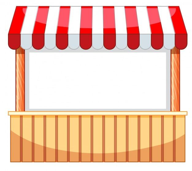 Verkoper op kermis met houten bar Gratis Vector