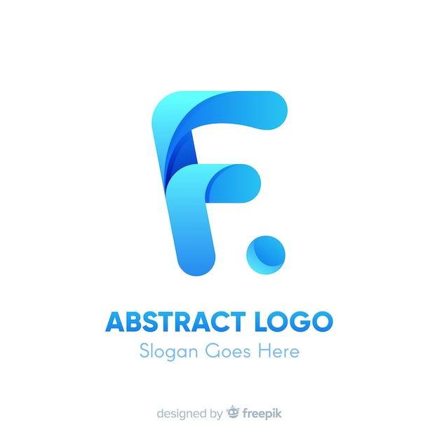 Verloop logo sjabloon met abstracte vorm Gratis Vector