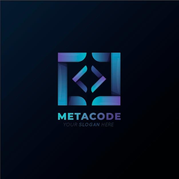 Verloop metacode-logo Gratis Vector