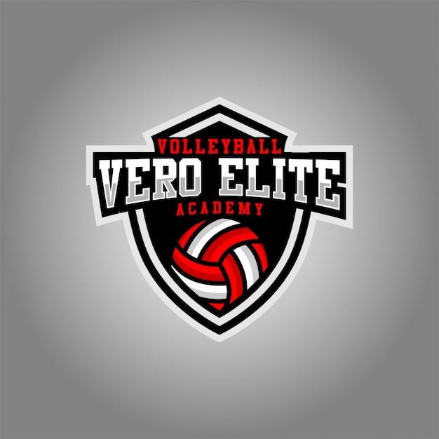 Vero elite vollyball esport-logo Premium Vector