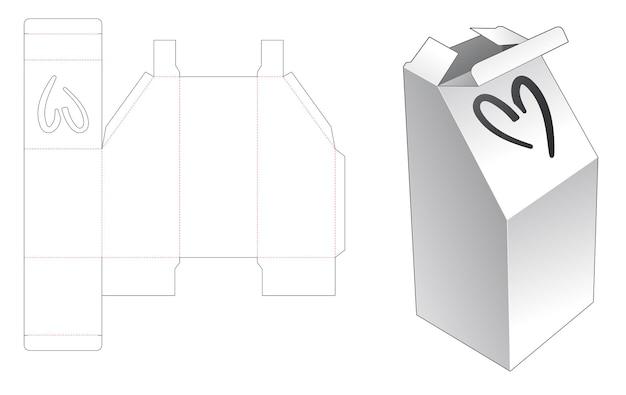 Verpakkingsdoos gestanst sjabloon Premium Vector