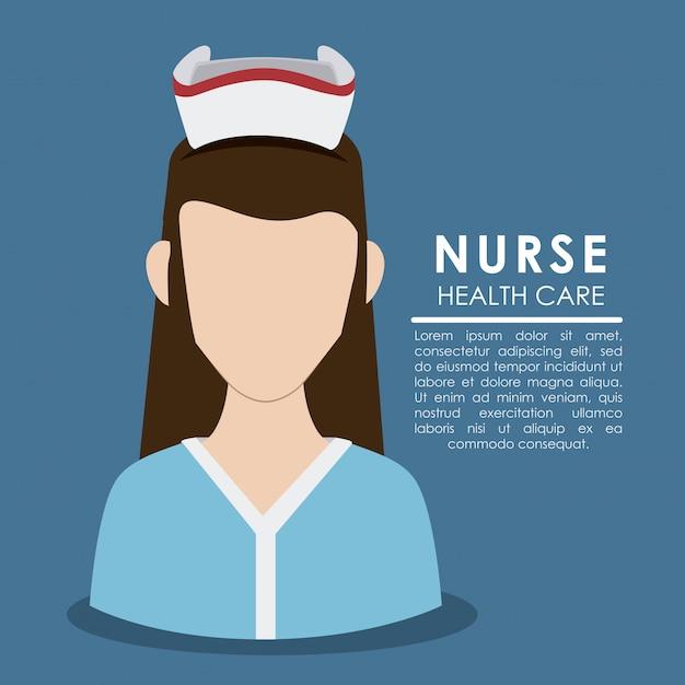Verpleegster vrouw Premium Vector