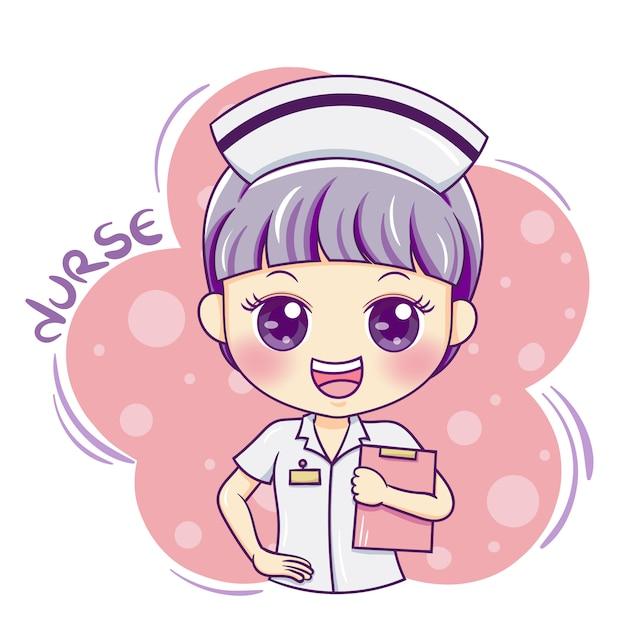 Verpleegster Premium Vector