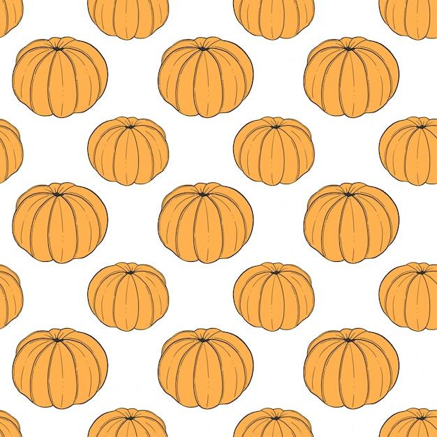 Vers mandarijn naadloos patroon in krabbel en schetsstijl. Premium Vector