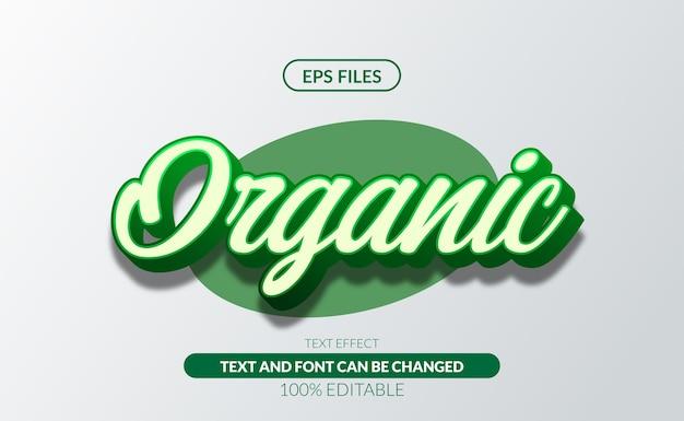 Vers organisch groen 3d bewerkbaar teksteffect eps-bestand Premium Vector