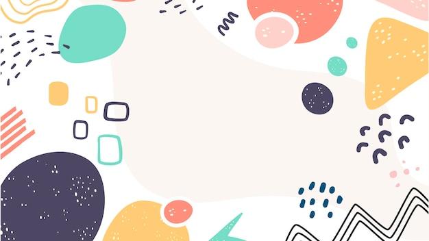 Verscheidenheid aan schattige vormen abstracte achtergrond Gratis Vector