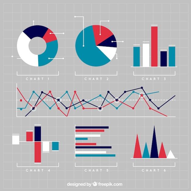 Verscheidenheid van grafieken Gratis Vector