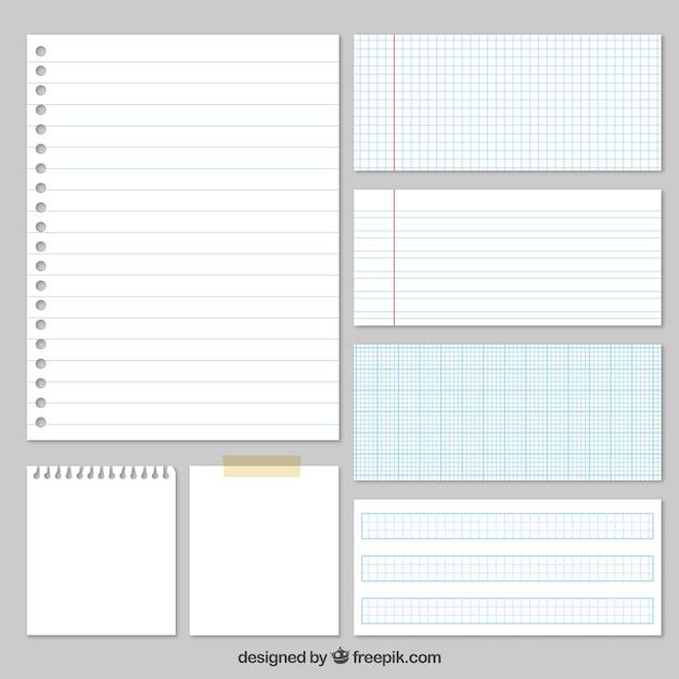 Verscheidenheid van papers Gratis Vector