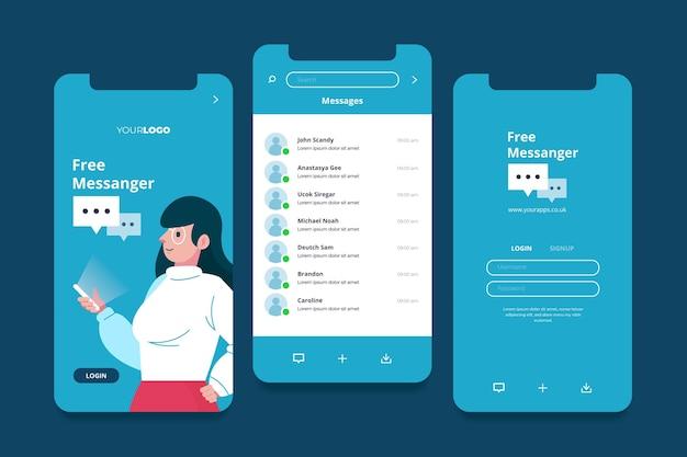 Verschillende app-interfaceconcepten Gratis Vector