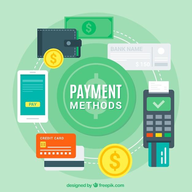 Verschillende betaalmethoden Gratis Vector