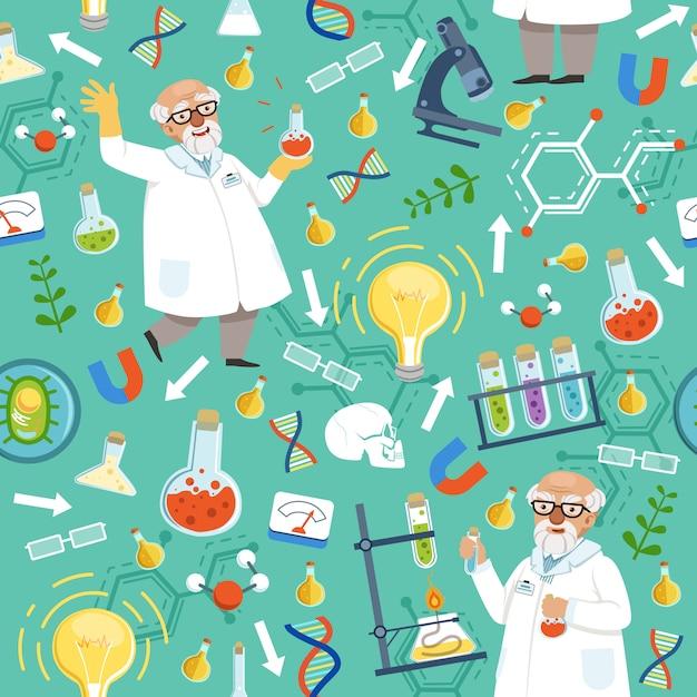 Verschillende chemische of biologische hulpmiddelen Premium Vector
