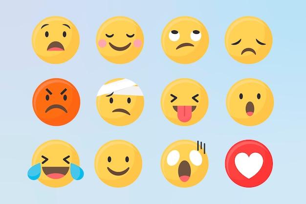 Verschillende emoji-set Gratis Vector