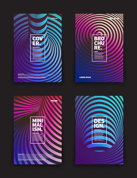 Verschillende flyers templates set Premium Vector